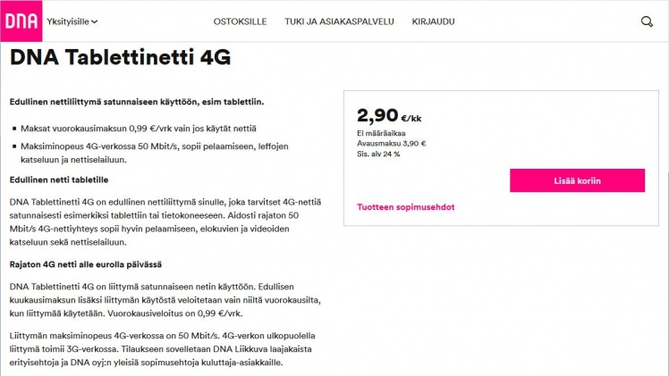 DNA Tablettinetti 4G